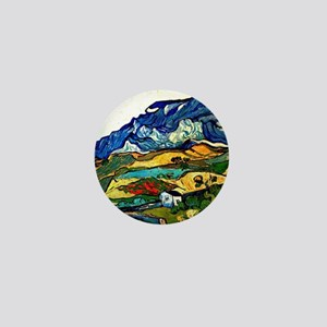 Van Gogh - Les Alpilles Mountain Lands Mini Button