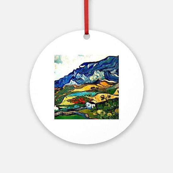 Van Gogh - Les Alpilles Mountain La Round Ornament