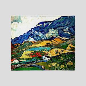 Van Gogh - Les Alpilles Mountain Lan Throw Blanket