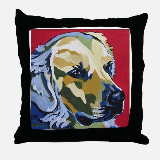 Golden Retriever - James Throw Pillow