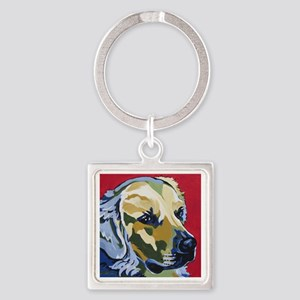 Golden Retriever - James Square Keychain