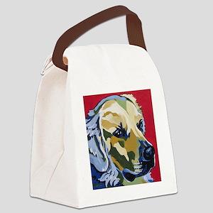 Golden Retriever - James Canvas Lunch Bag