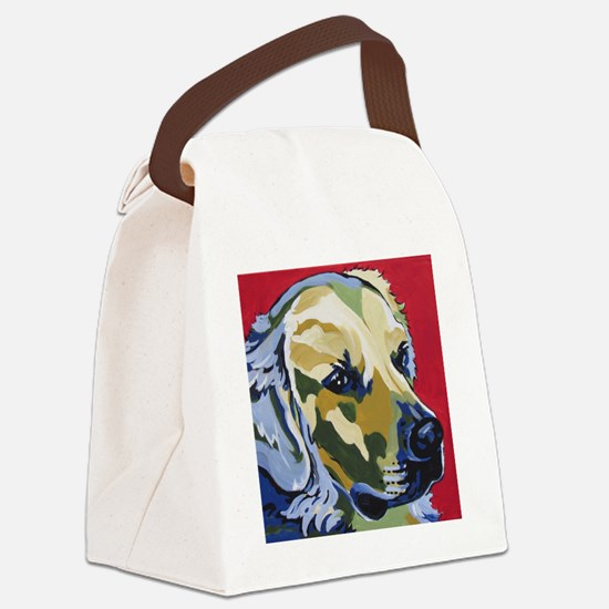 Golden Retriever - James Canvas Lunch Bag