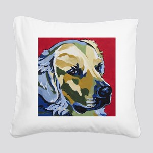 Golden Retriever - James Square Canvas Pillow