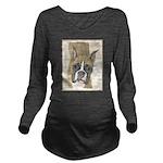 Boxer Long Sleeve Maternity T-Shirt