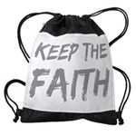 Keep the Faith Drawstring Bag