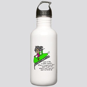 Love is a Roller Coaster Stainless Water Bottle 1.