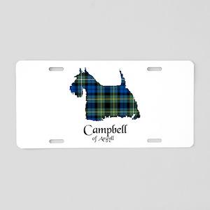 Terrier - Campbell of Argyll Aluminum License Plat