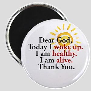 Dear God. Thank You. Magnets