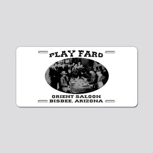 Orient Saloon Bisbee Arizona Aluminum License Plat