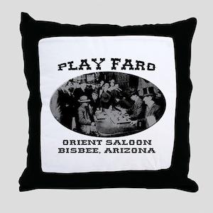 Orient Saloon Bisbee Arizona Throw Pillow