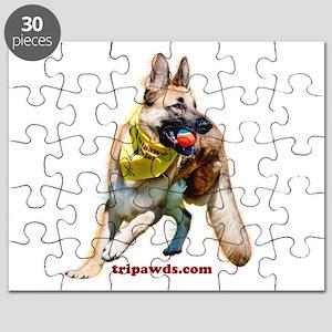 Tripawds Three Legged GSD Ball Puzzle
