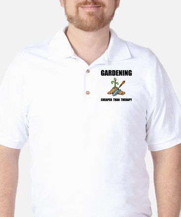 Gardening Therapy Golf Shirt