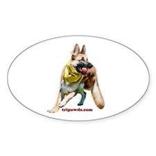 Tripawds Three Legged GSD Ball Sticker