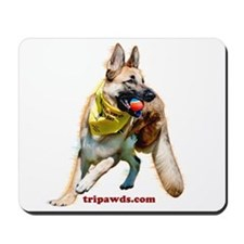Tripawds Three Legged GSD Ball Mousepad