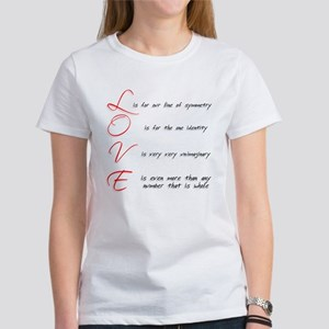 Mathemtical LOVE Women's T-Shirt