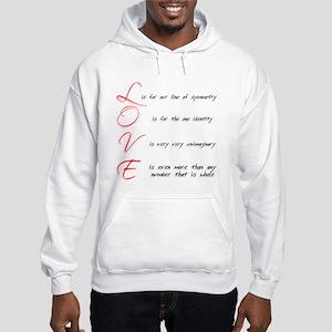 Mathemtical LOVE Hooded Sweatshirt