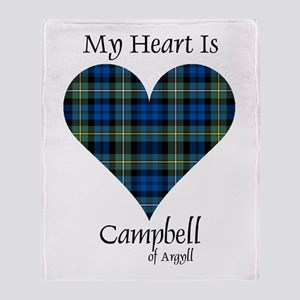 Heart - Campbell of Argyll Throw Blanket