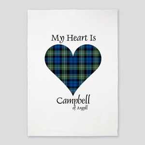 Heart - Campbell of Argyll 5'x7'Area Rug