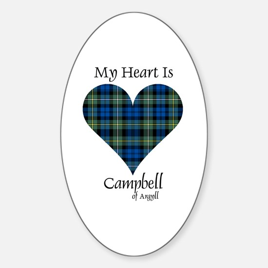 Heart - Campbell of Argyll Sticker (Oval)