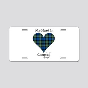 Heart - Campbell of Argyll Aluminum License Plate