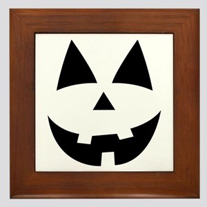 Pumpkin Face Framed Tile