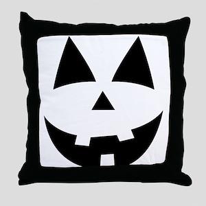 Pumpkin Face Throw Pillow