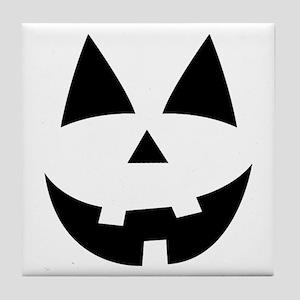 Pumpkin Face Tile Coaster