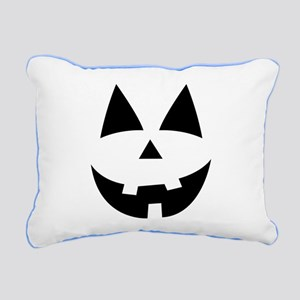 Pumpkin Face Rectangular Canvas Pillow