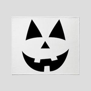 Pumpkin Face Throw Blanket
