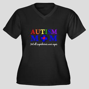 Autism Mom Superhero Plus Size T-Shirt