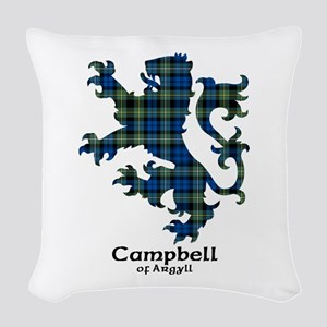 Lion - Campbell of Argyll Woven Throw Pillow