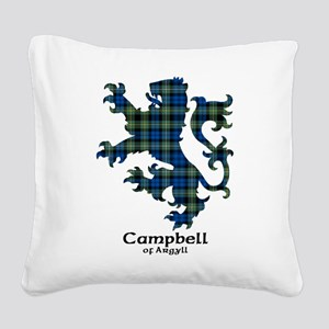 Lion - Campbell of Argyll Square Canvas Pillow