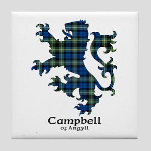 Lion - Campbell of Argyll Tile Coaster