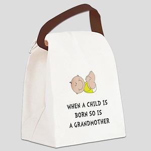 Grandmother Born Canvas Lunch Bag