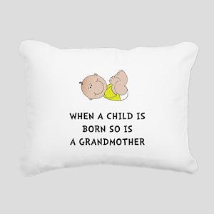 Grandmother Born Rectangular Canvas Pillow