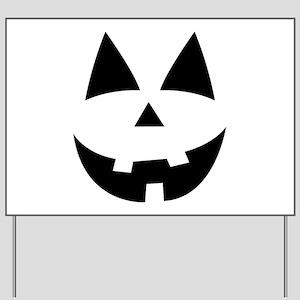 Pumpkin Face Yard Sign