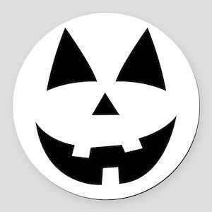 Pumpkin Face Round Car Magnet