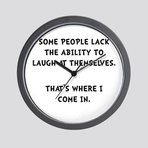 Laugh Themselves Wall Clock