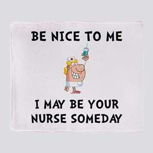 Nice Nurse Throw Blanket