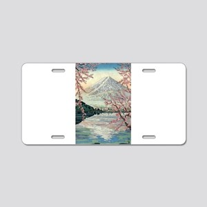 Fuji Mountain from Kawaguch Aluminum License Plate
