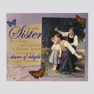Older Sisters: In the Woods Throw Blanket