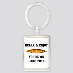 On Lake Time Keychains