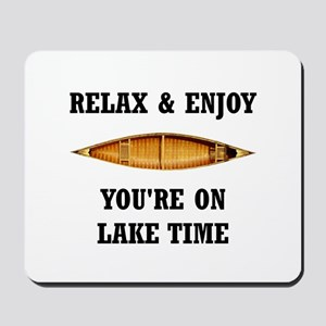 On Lake Time Mousepad