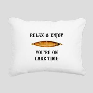 On Lake Time Rectangular Canvas Pillow