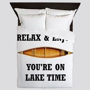 On Lake Time Queen Duvet