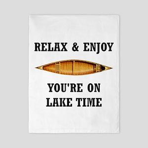On Lake Time Twin Duvet