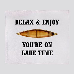 On Lake Time Throw Blanket