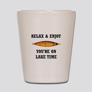 On Lake Time Shot Glass