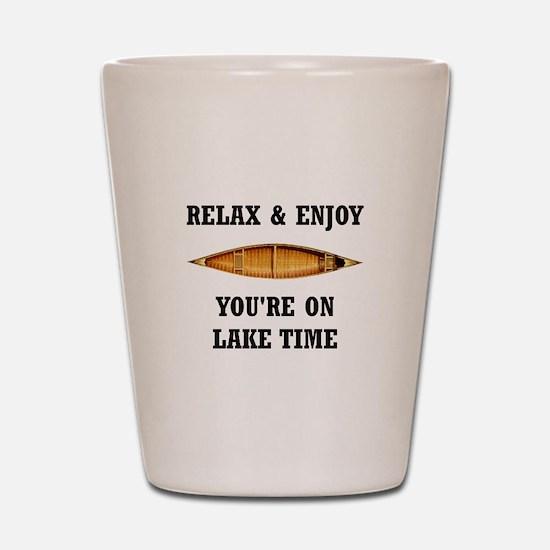 On Lake Time Shot Glass